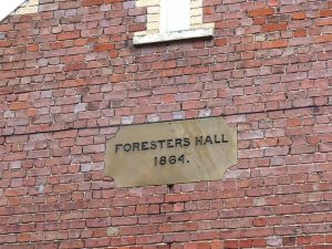 Foresters Hall 1864 Plaque