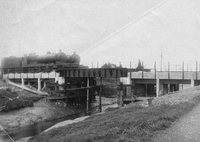 Two engines testing the new Barrow Haven bridge c1926