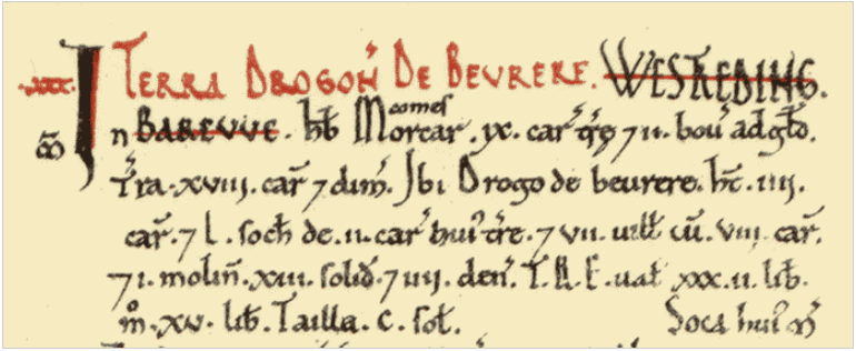 Click to see Barrow Upon Humber in Domesday Book
